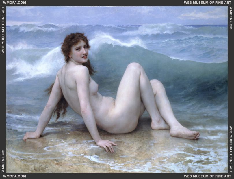 La Vague - The Wave 1896 by Bouguereau, William