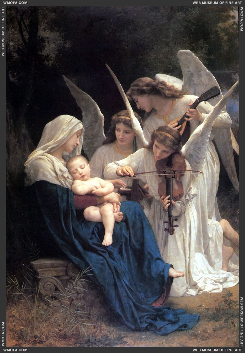 La Vierge aux Anges - The Virgin with Angels 1881 by Bouguereau, William