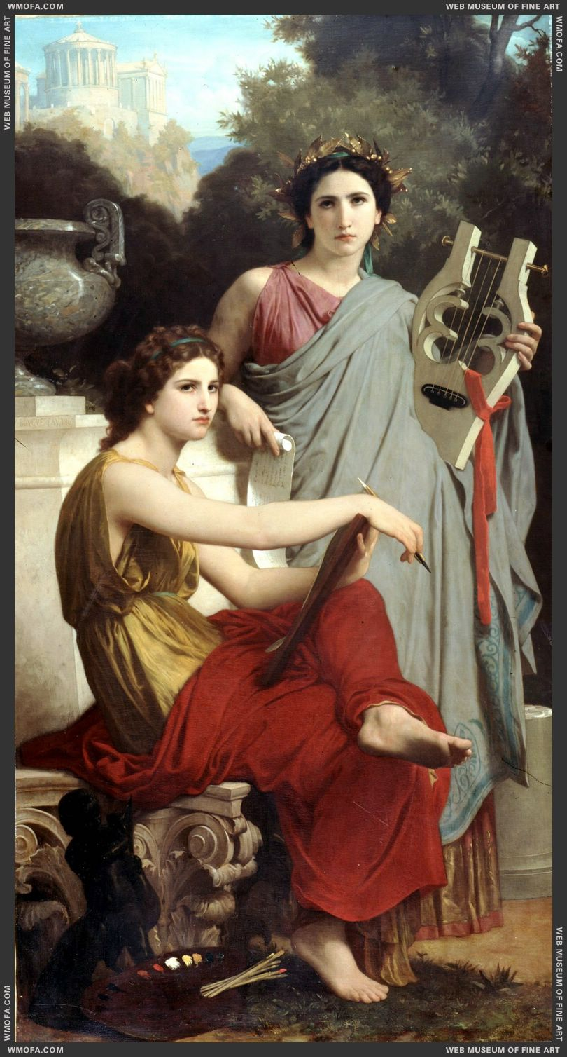 Lart et la Litterature - Art and Literature 1867 by Bouguereau, William