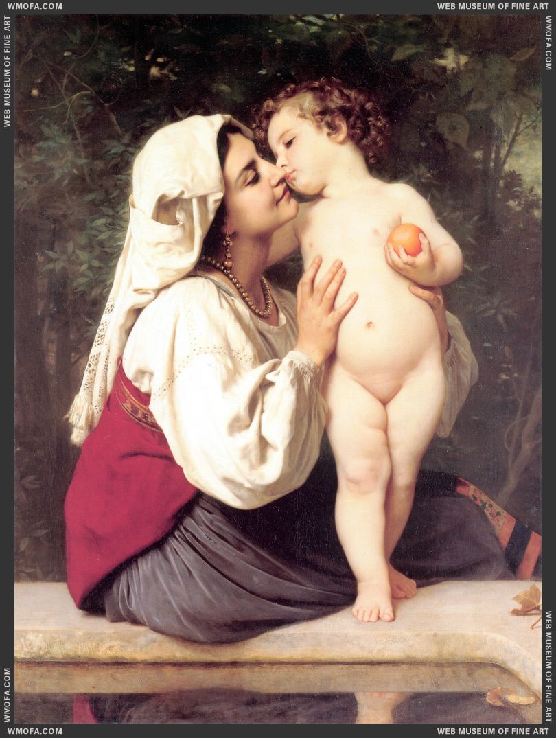 Le Baiser - The Kiss 1863 by Bouguereau, William