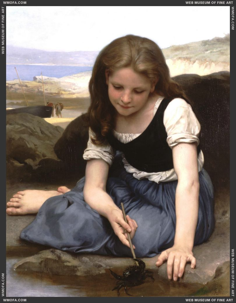 Le Crabe - The Crab 1869 by Bouguereau, William
