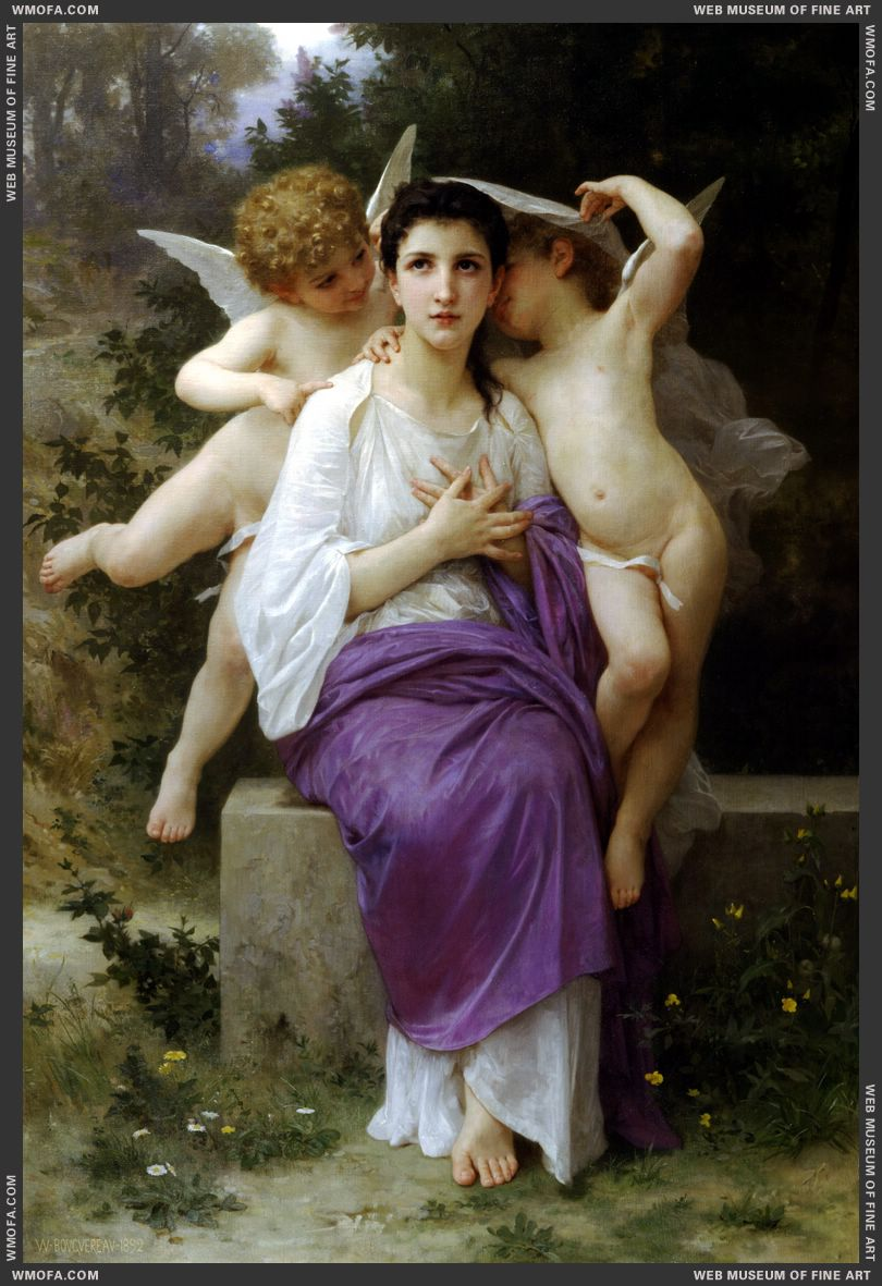 Le Eveil du Coeur - The Hearts Awakening 1892 by Bouguereau, William