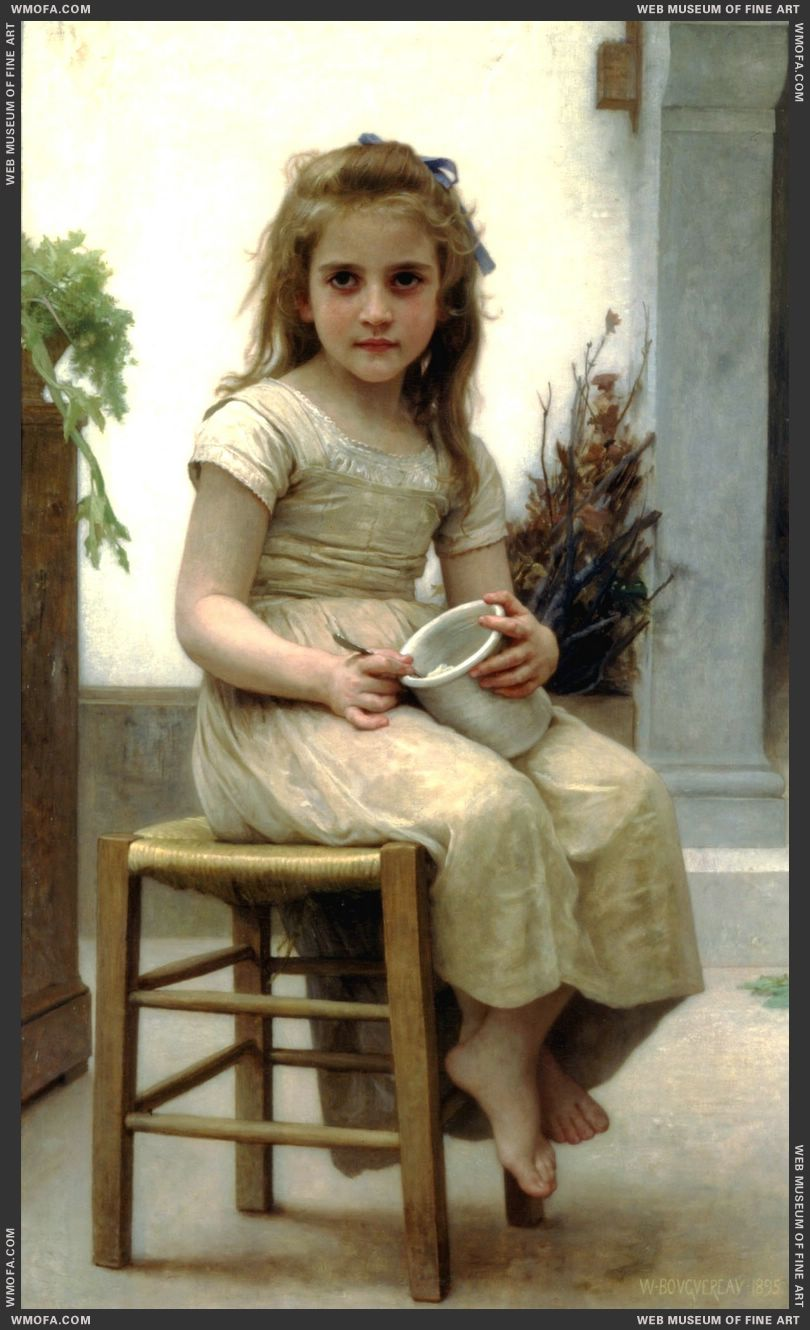 Le Gouter - Just a Taste 1895 by Bouguereau, William