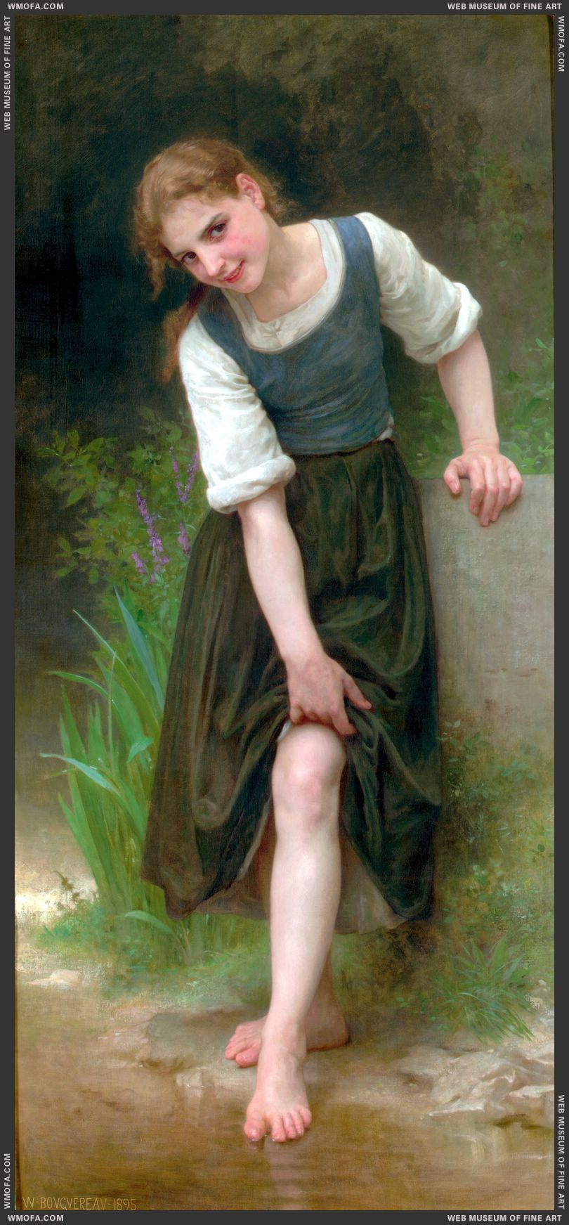 Le Gue - The Ford 1895 by Bouguereau, William