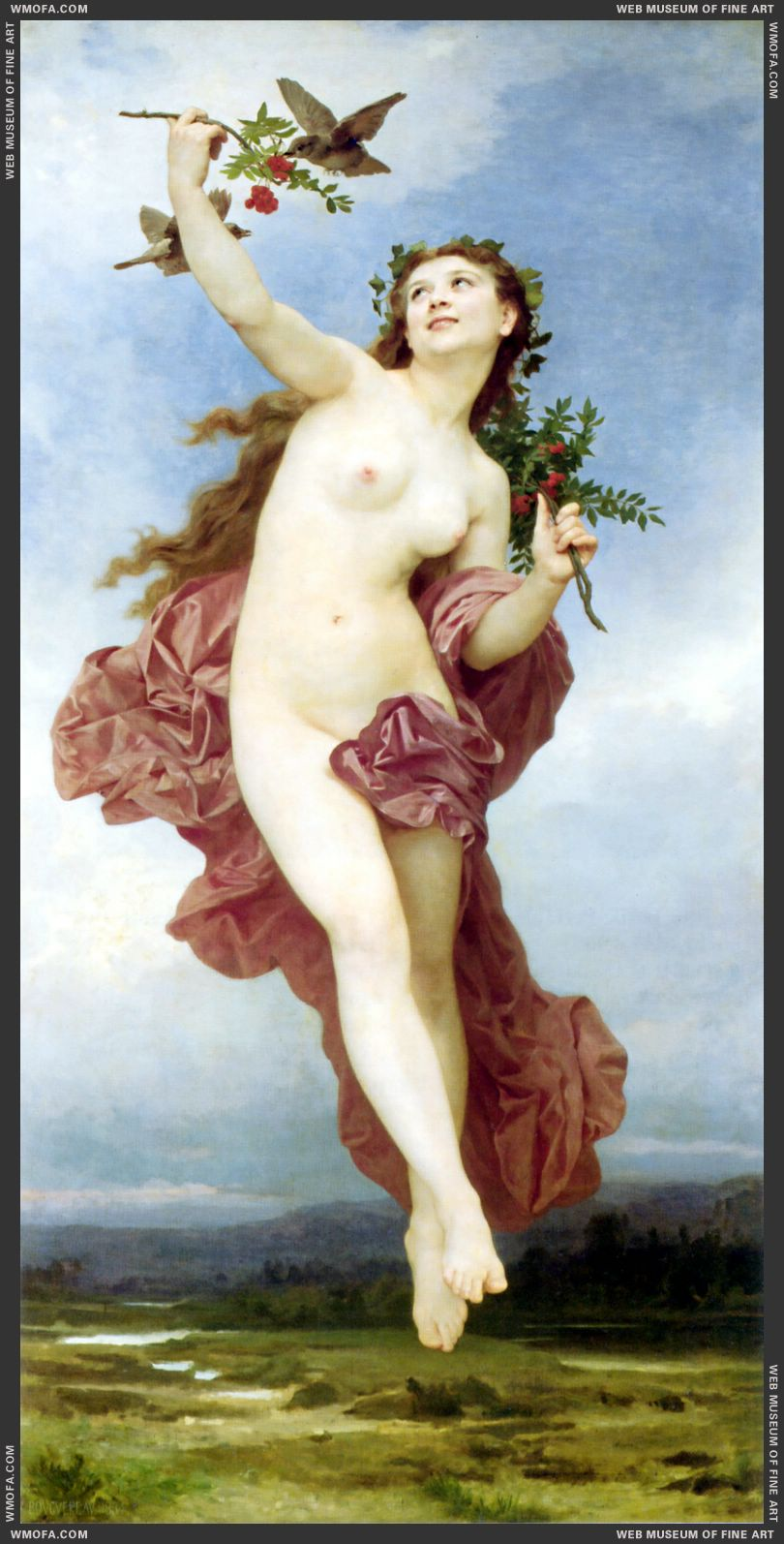 Le Jour - Day 1884 by Bouguereau, William