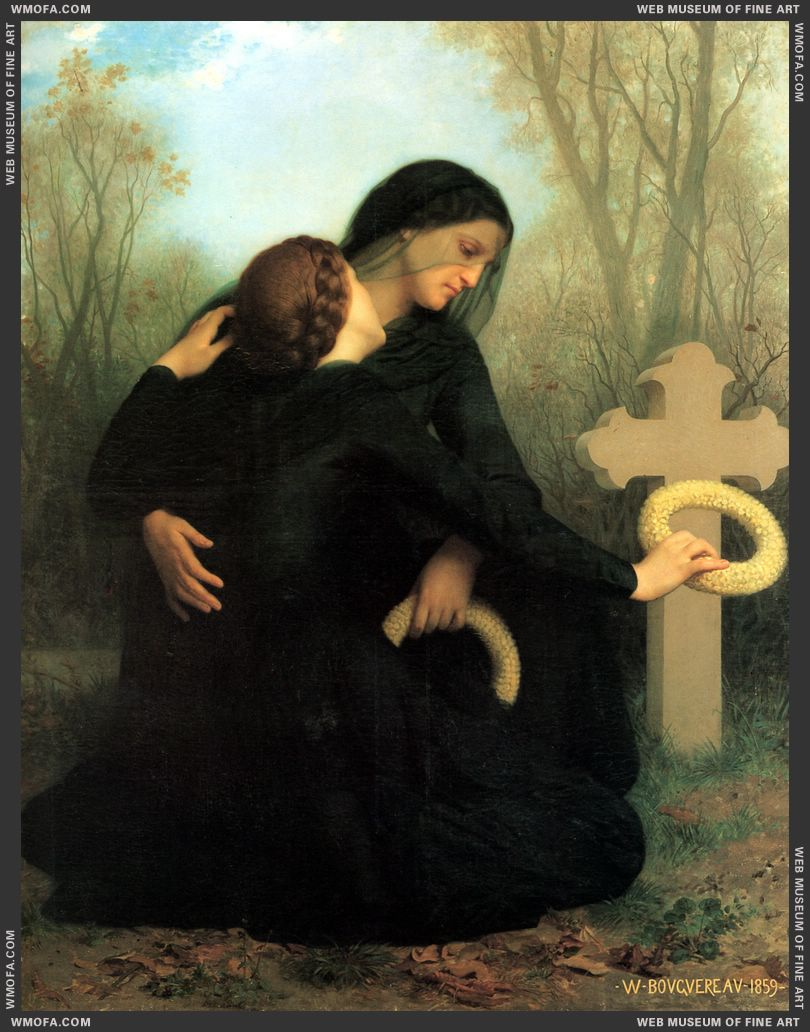 Le Jour des Morts - The Day of the Dead 1859 by Bouguereau, William
