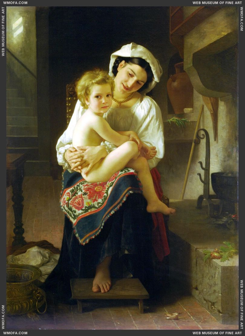 Le Lever - Up You Go 1871 by Bouguereau, William