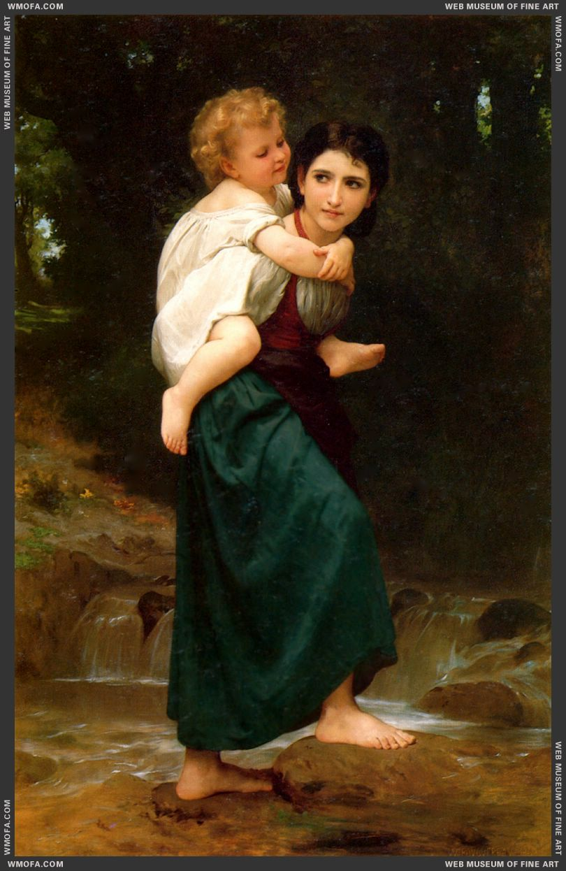 Le Passage du Gue - The Crossing of the Ford 1869 by Bouguereau, William