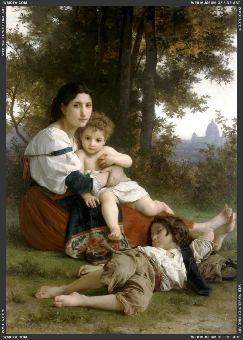 Le Repos - Rest 1879 by Bouguereau, William