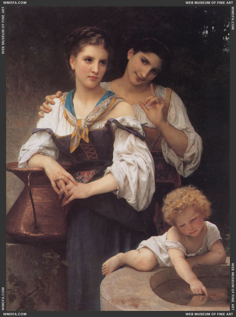 Le Secret - The Secret c1876 by Bouguereau, William