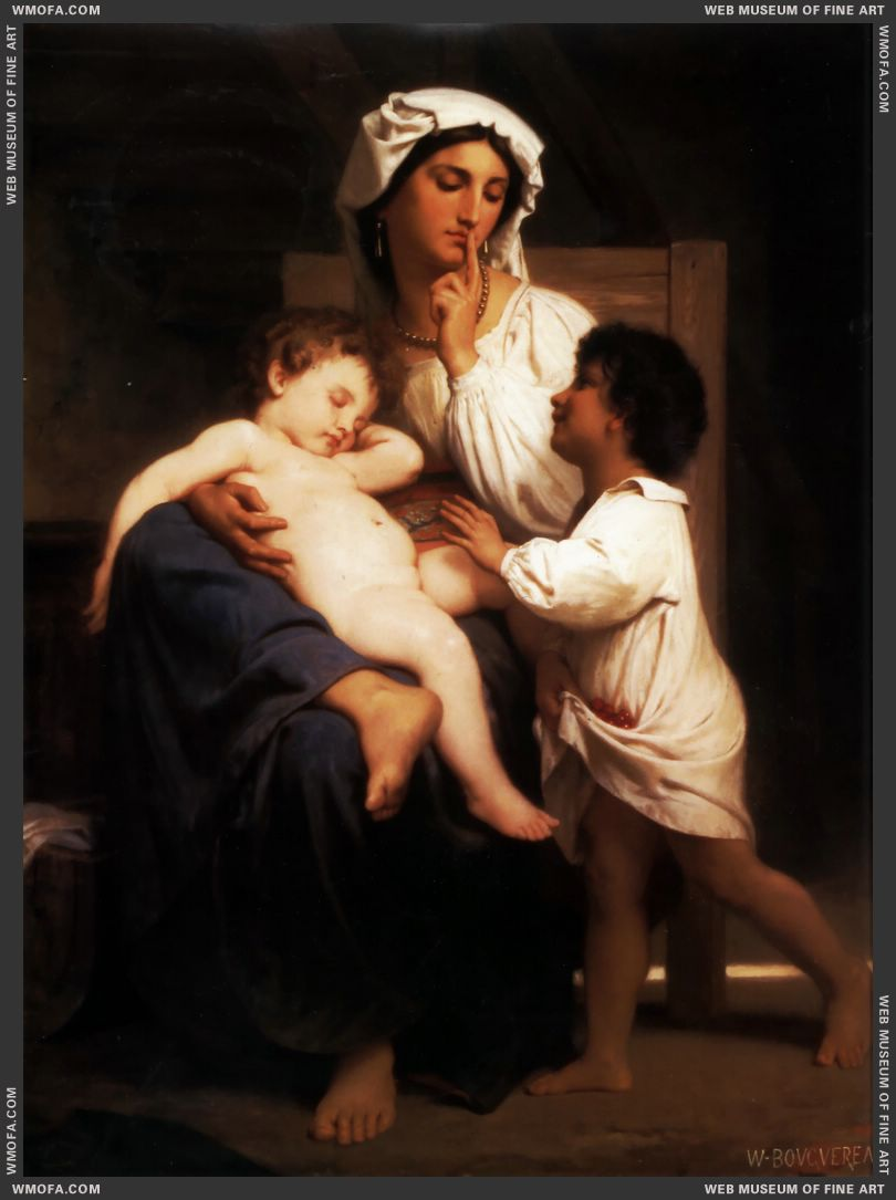 Le Sommeil - Asleep at Last 1864 by Bouguereau, William