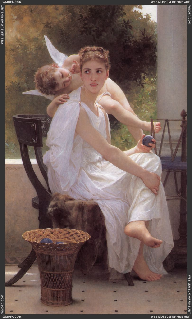 Le Travail Interrompu - Work Interrupted 1891 by Bouguereau, William