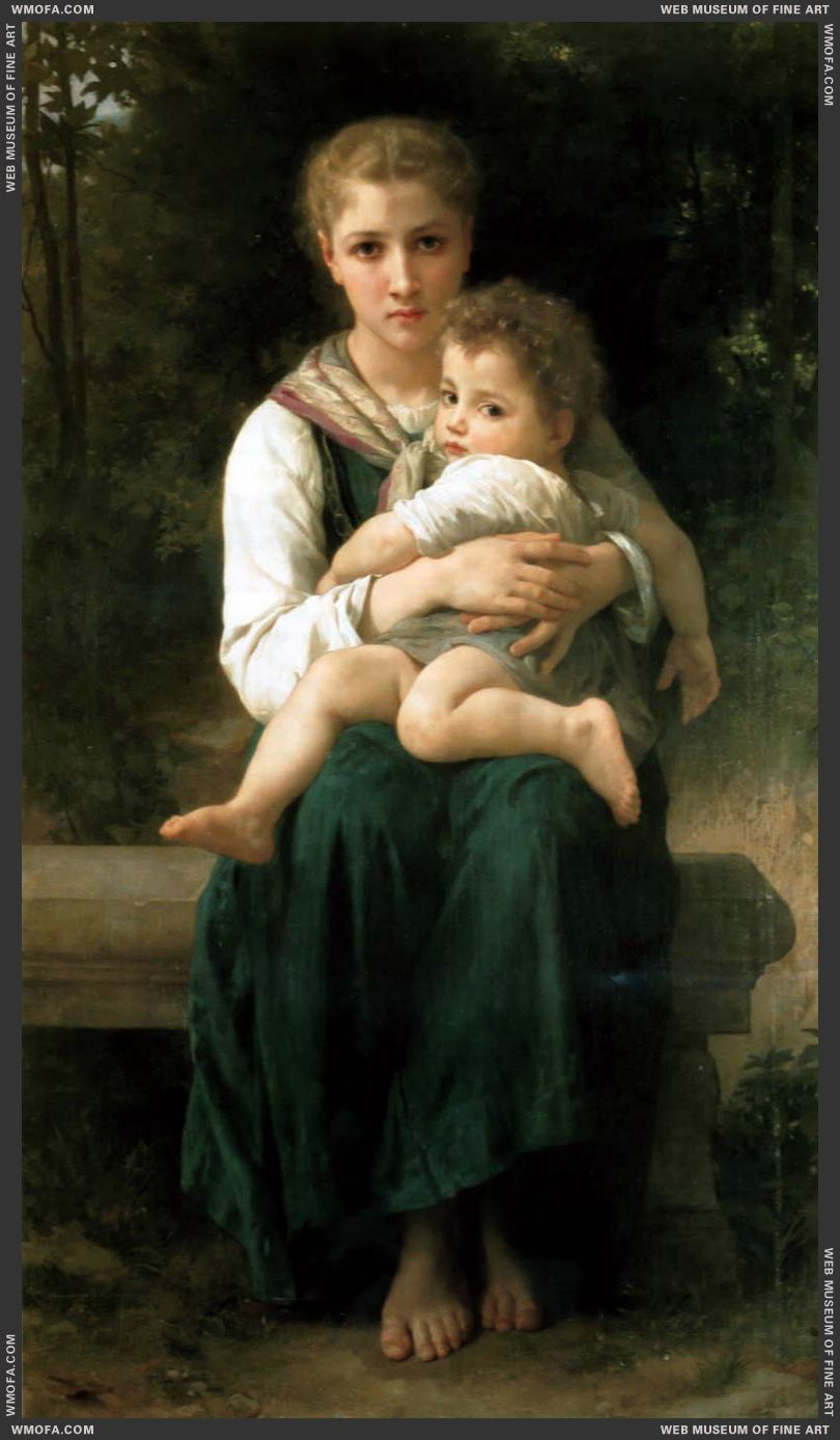 Les Deux Soeurs - The Two Sisters 1877 by Bouguereau, William