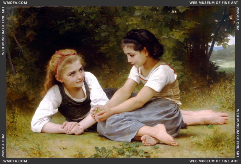 Les Noisettes - Hazelnuts 1882 by Bouguereau, William