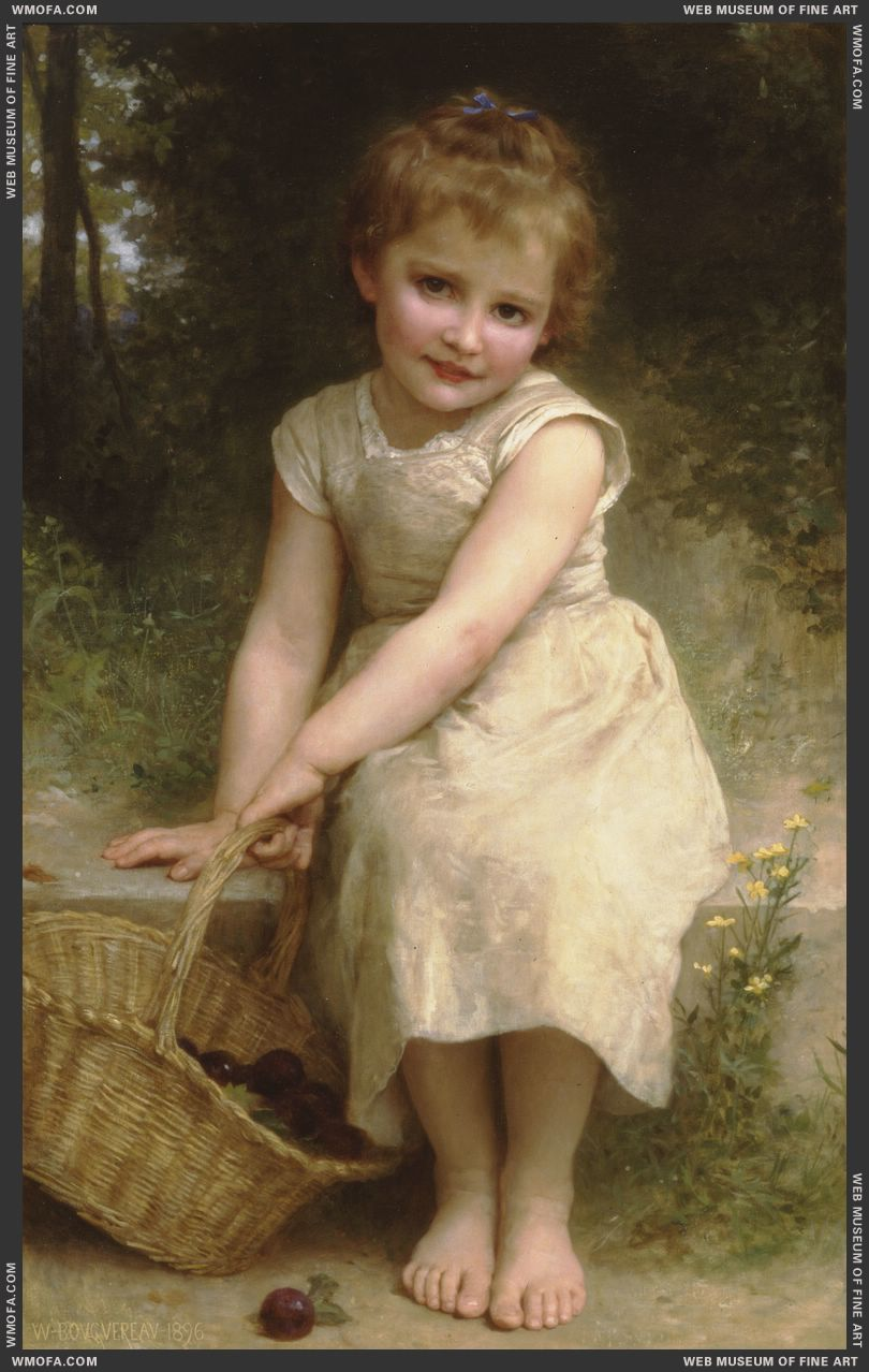 Les Prunes - Plums 1896 by Bouguereau, William