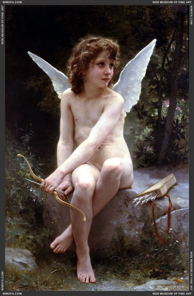 Love on the Look Out 1890 by Bouguereau, William