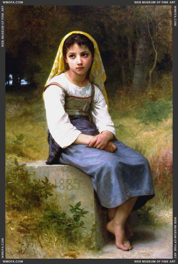 Meditation 1885 by Bouguereau, William
