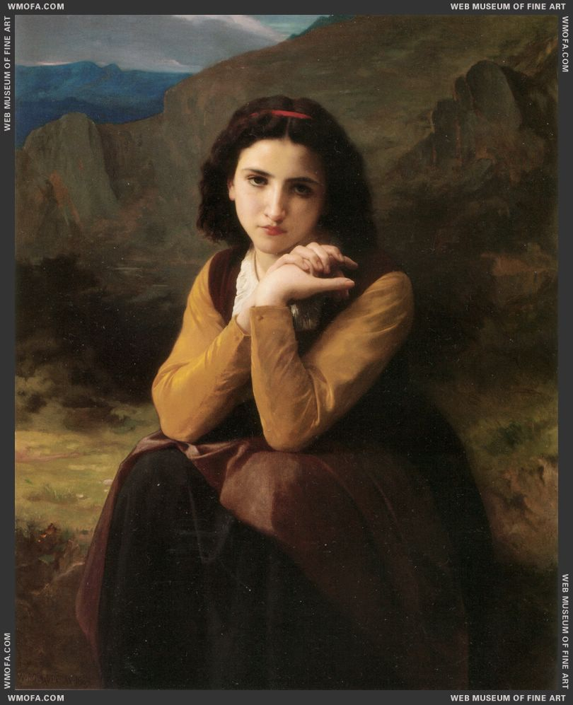 Mignon 1869 by Bouguereau, William