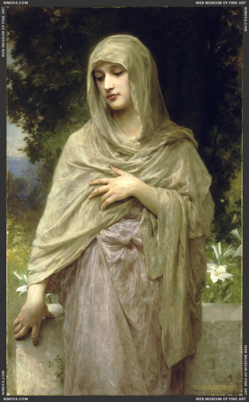 Modestie - Modesty 1902 by Bouguereau, William