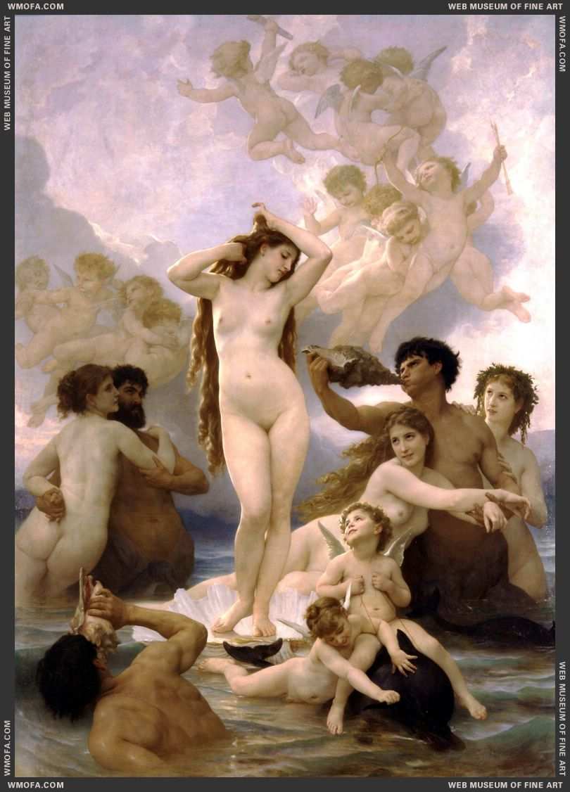Naissance de Venus - Birth of Venus 1879 by Bouguereau, William
