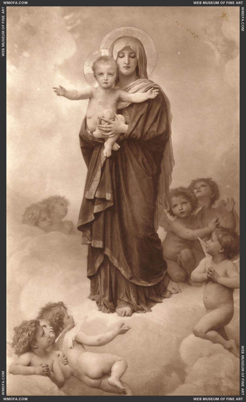 Notre-Dame des Anges - Our Lady of the Angels 1889 by Bouguereau, William