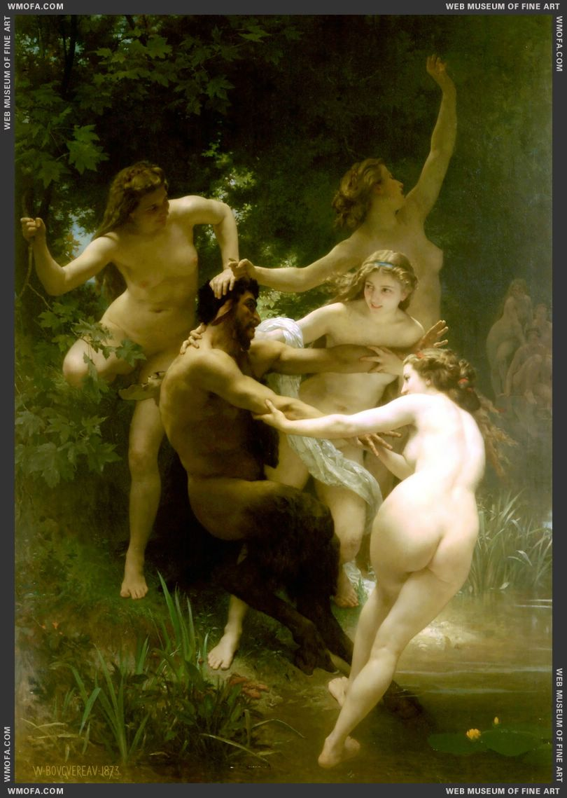 Nymphs and Satyr 1873 by Bouguereau, William