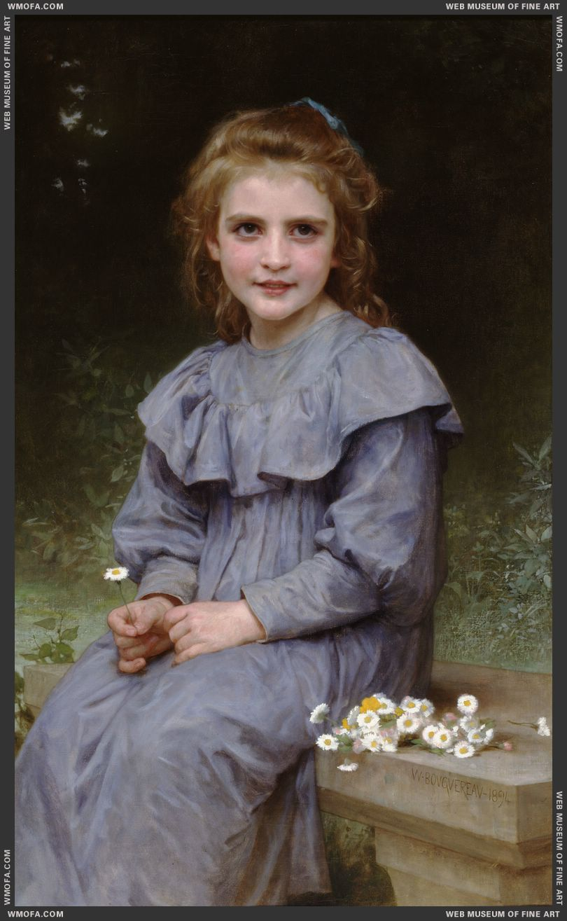 Paquerettes - Daisies 1894 by Bouguereau, William