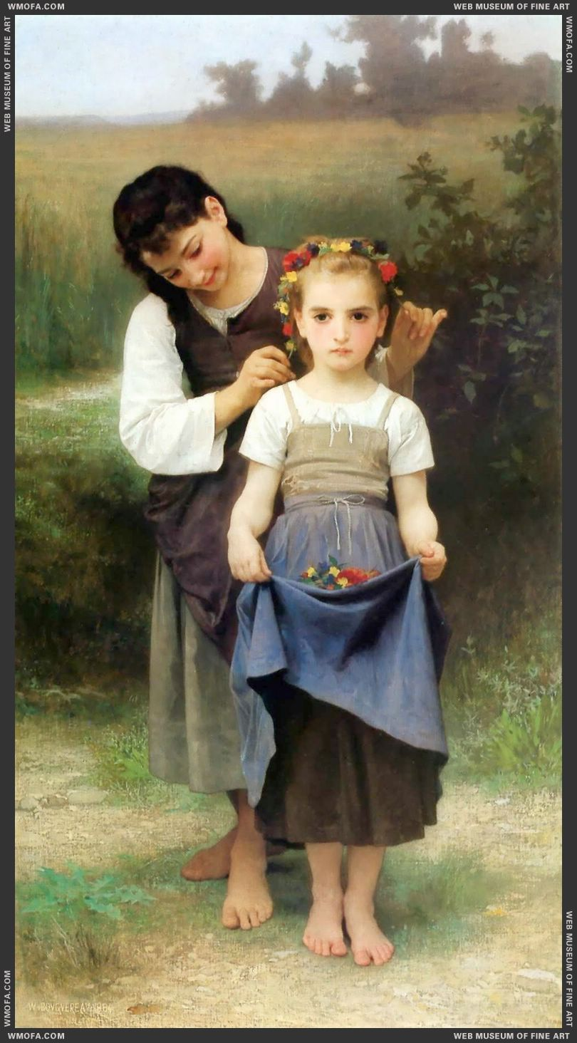 Parure des Champs - The Jewel of the Fields 1884 by Bouguereau, William