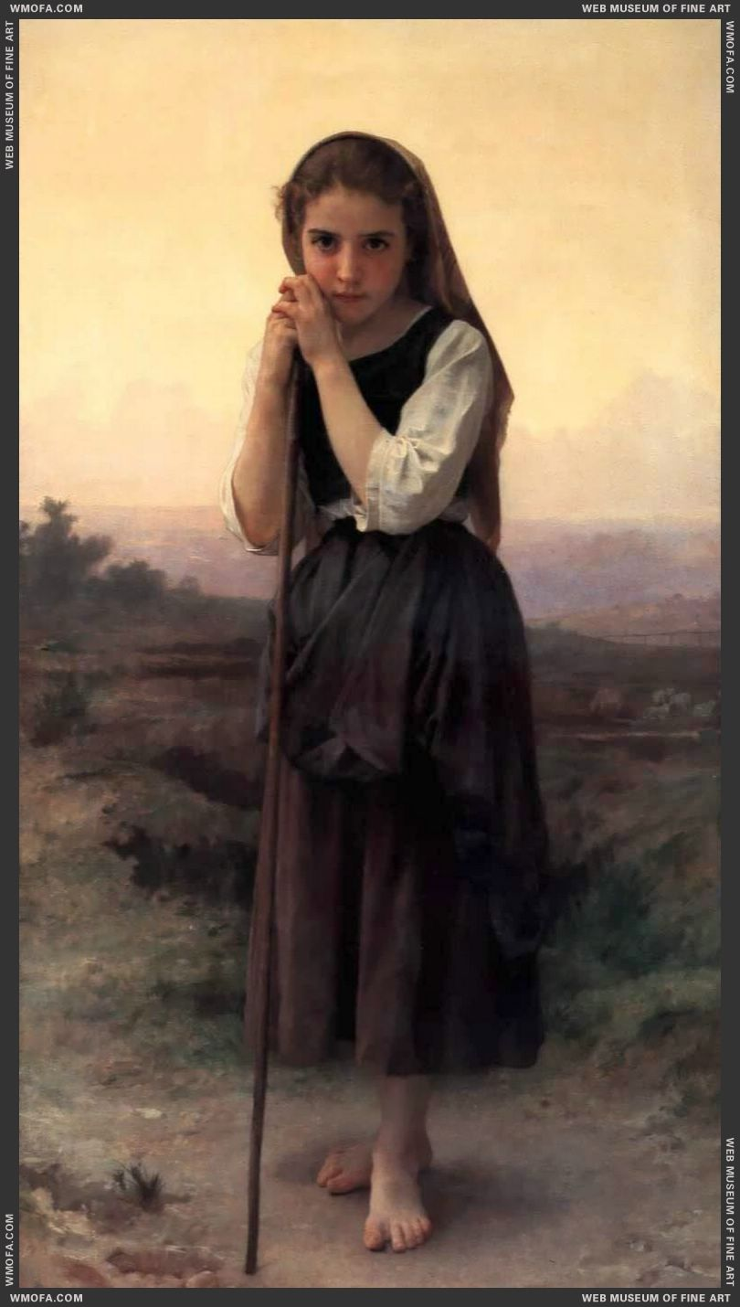 Petite Bergere - Little Shepherdess 1891 by Bouguereau, William