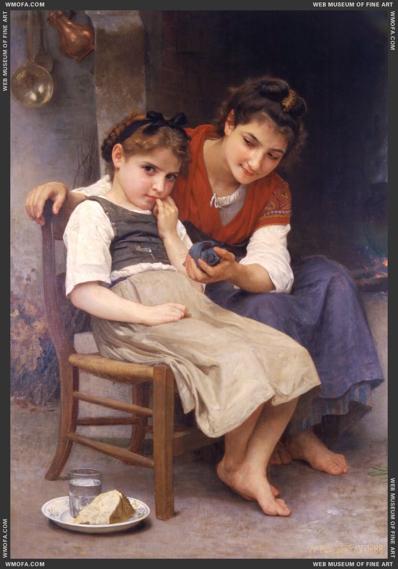 Petite Boudeuse - The Little Sulk 1888 by Bouguereau, William