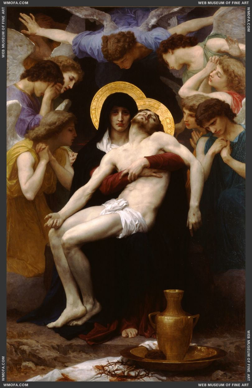 Pieta 1876 by Bouguereau, William