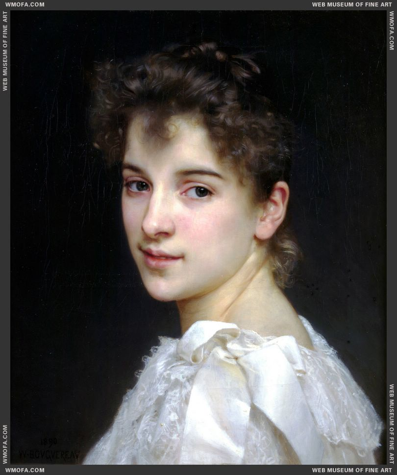 Portrait of Gabrielle Cot 1890 by Bouguereau, William