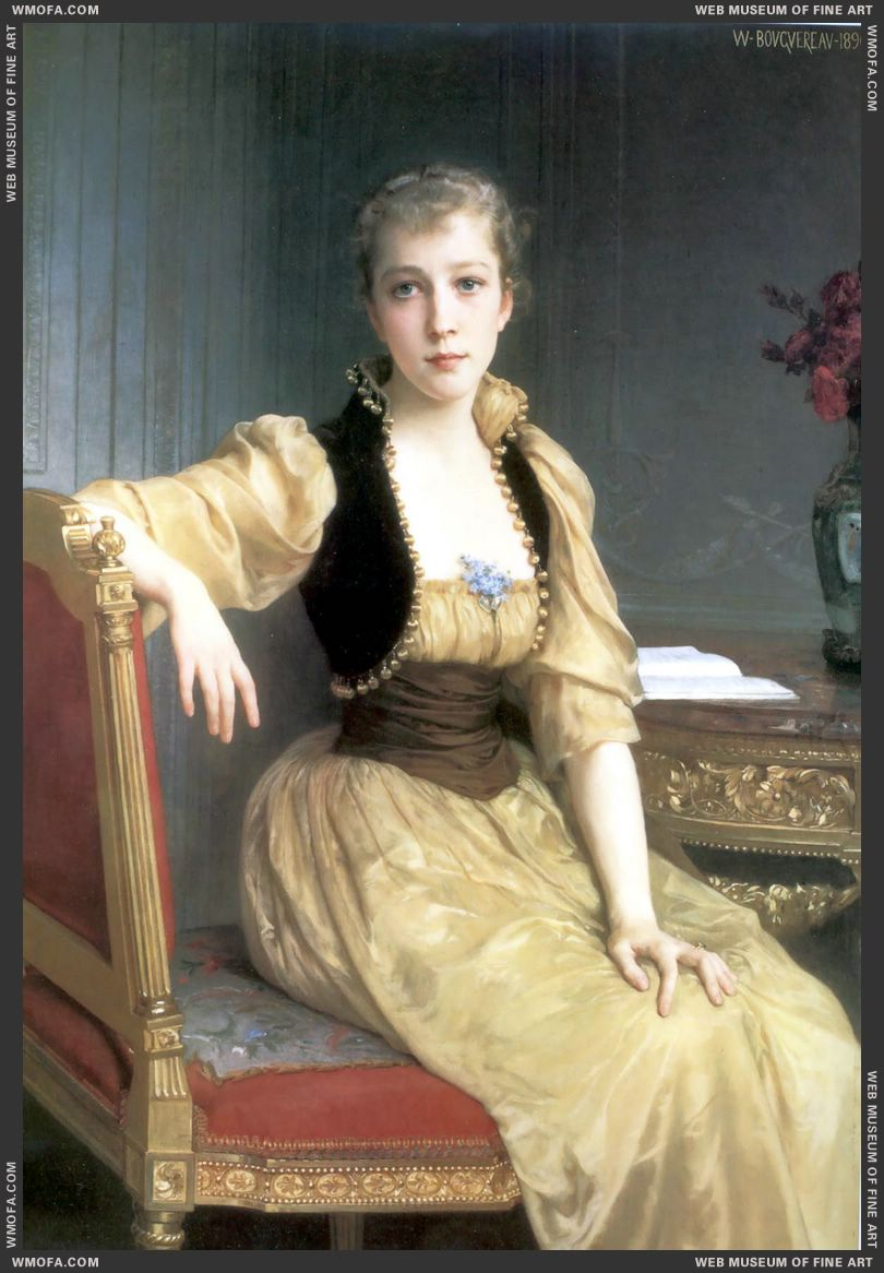 Portrait of Lady Maxwell 1890 by Bouguereau, William