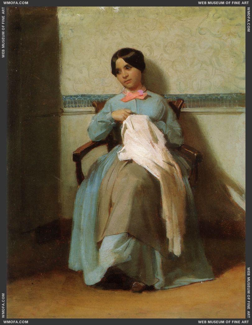 Portrait of Leonie Bouguereau 1850 by Bouguereau, William