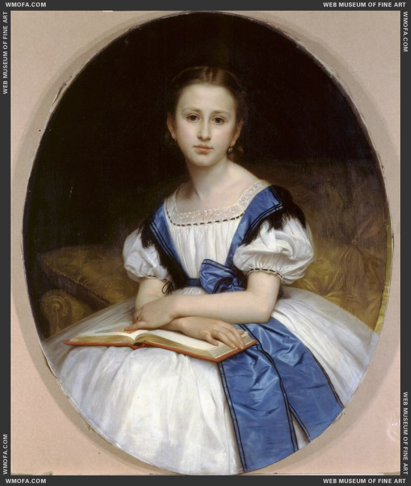 Portrait of Miss Brissac 1863 by Bouguereau, William