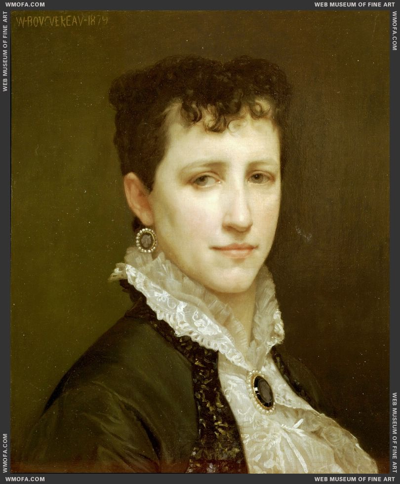 Portrait of Miss Elizabeth Gardner 1879 by Bouguereau, William