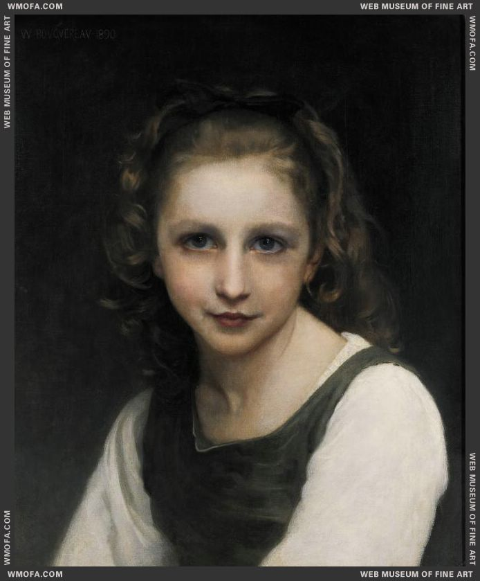Portrait of a Young Girl 1890 by Bouguereau, William