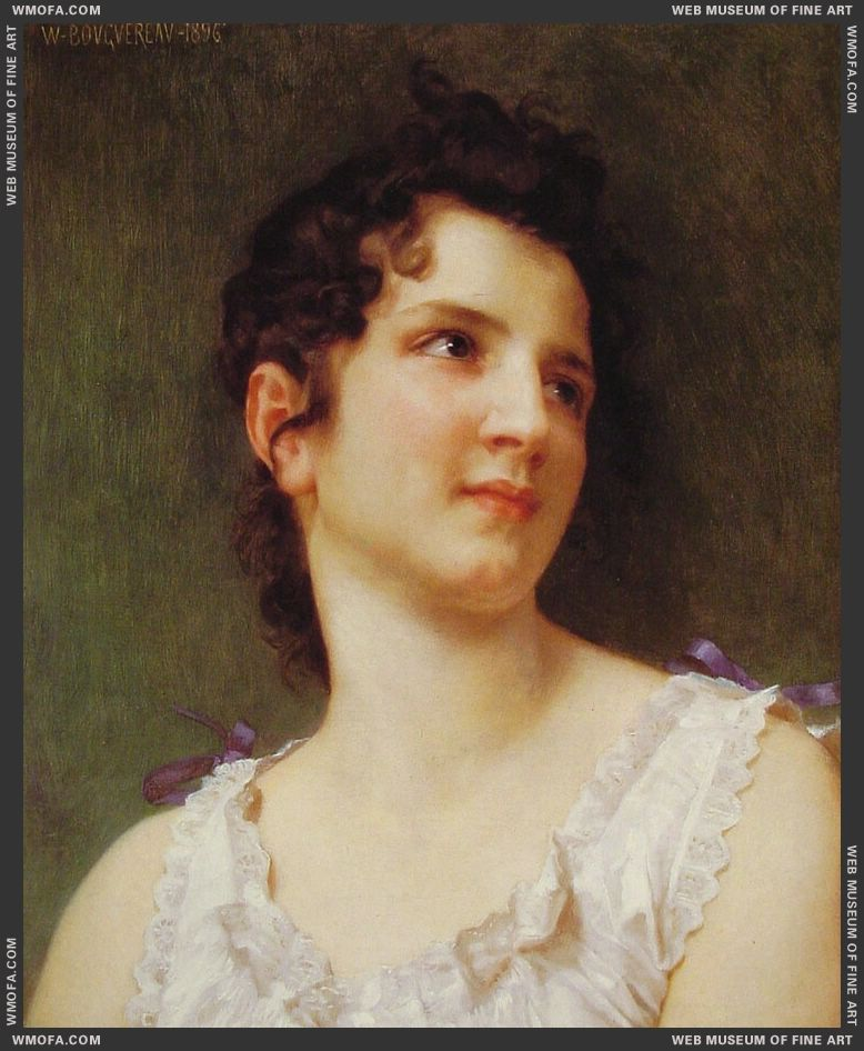 Portrait of a Young Girl 1896 by Bouguereau, William