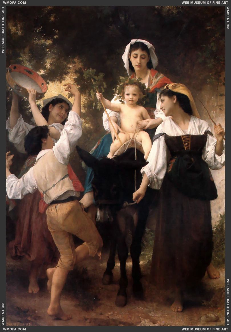 Promenade a Ane - Donkey Ride 1878 by Bouguereau, William