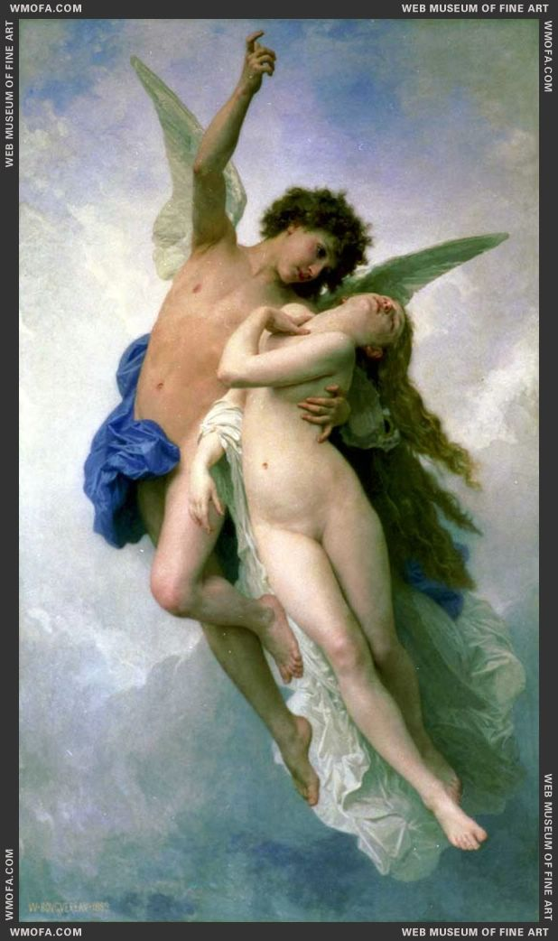 Psyche et LAmour - Psyche and Cupid 1889 by Bouguereau, William