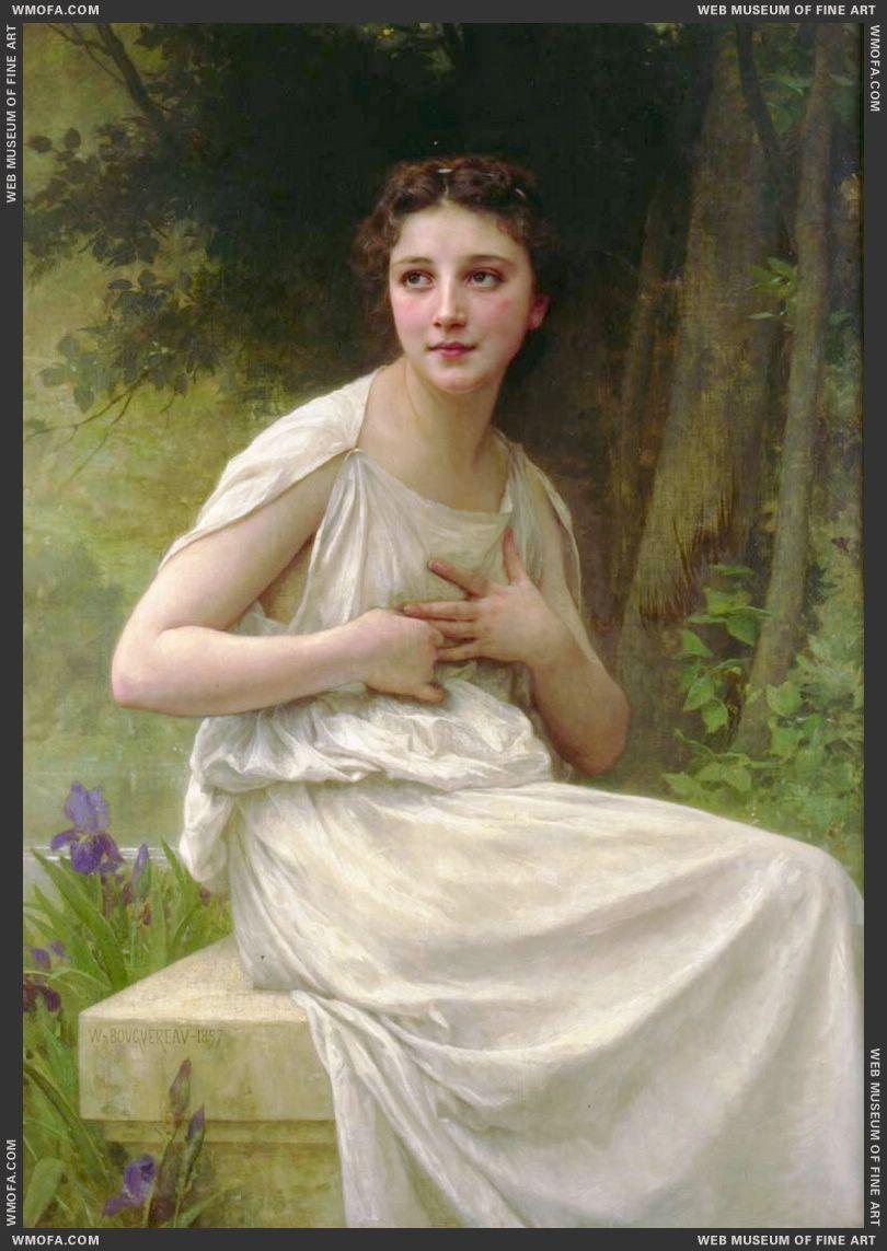 Reflexion - Reflection 1897 by Bouguereau, William