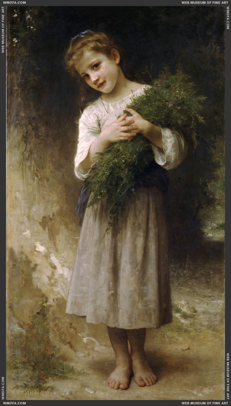 Retour des Champs - Returned From the Fields 1898 by Bouguereau, William