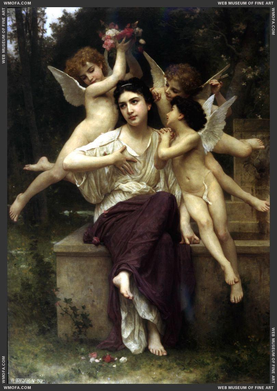 Reve de printemps - A Dream of Spring 1901 by Bouguereau, William