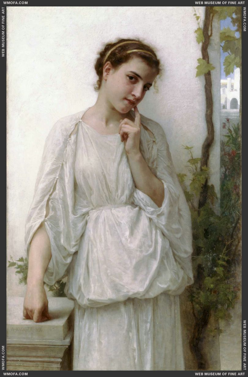 Reverie - Revery 1894 by Bouguereau, William