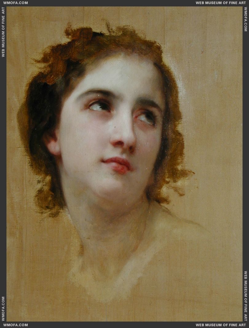 Sketch of a Young Woman by Bouguereau, William