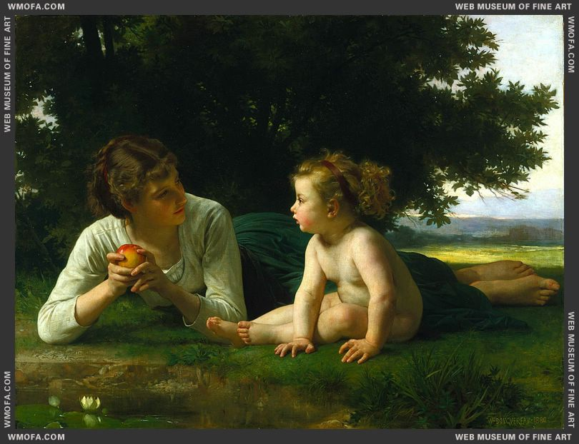 Temptation 1880 by Bouguereau, William