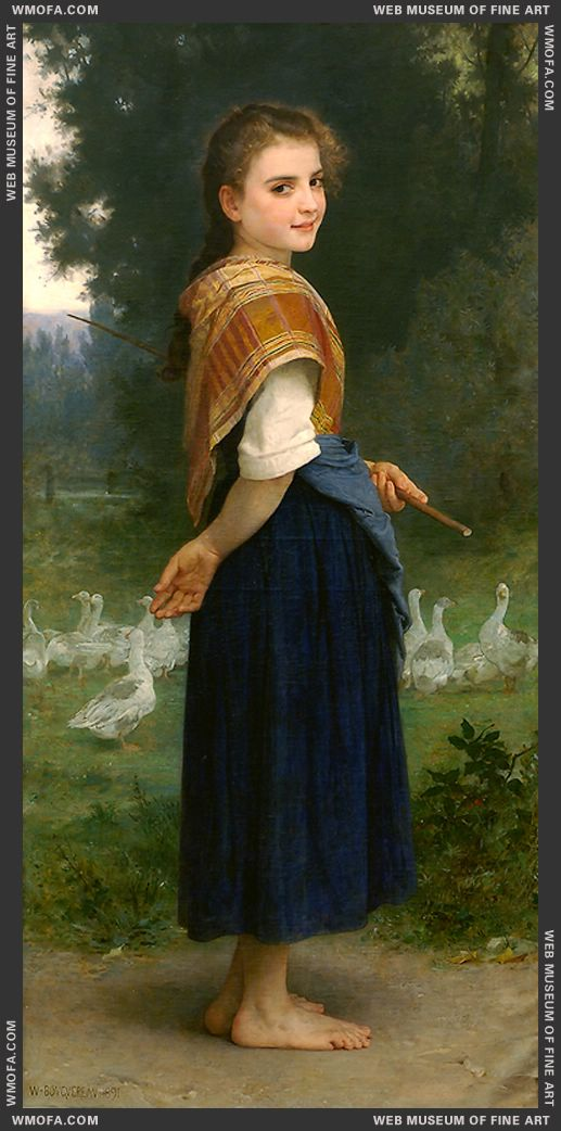 The Goose Girl 1891 by Bouguereau, William