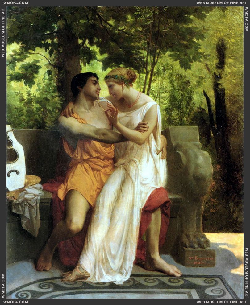 The Idyll 1850 by Bouguereau, William