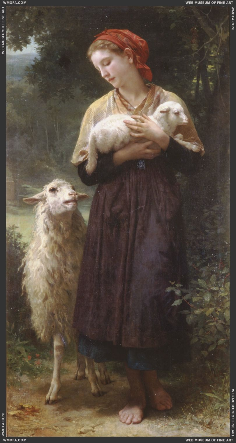 The Newborn Lamb 1873 by Bouguereau, William