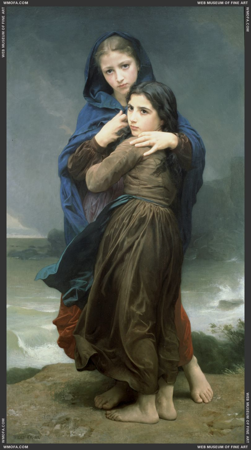 The Storm 1874 by Bouguereau, William